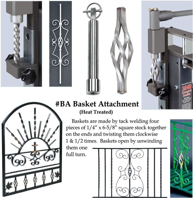 BA Basket Attachment for Metal Bender