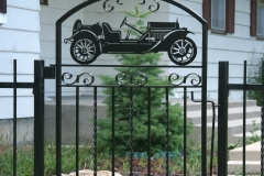 Gate-with-car-silhouttes
