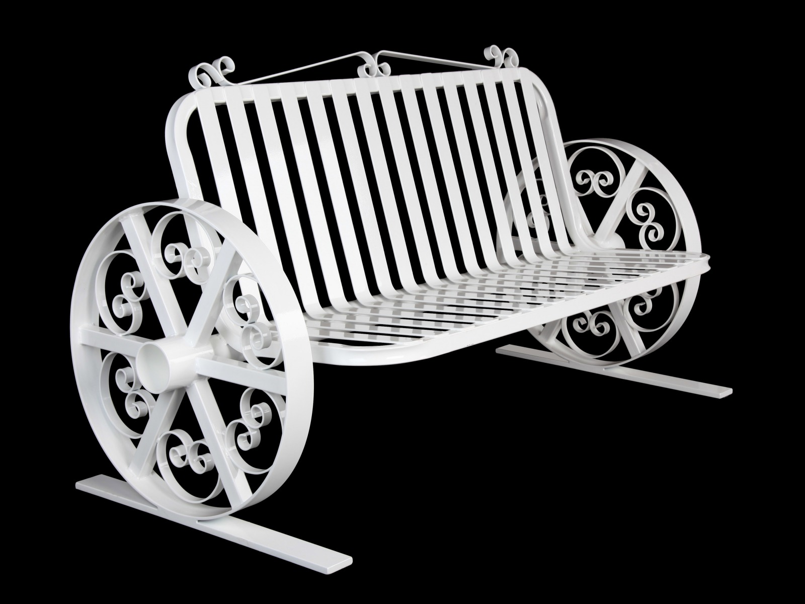 Wagon-wheel-scroll-bench